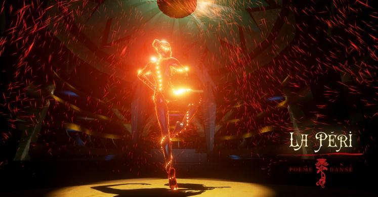 La Peri, jeu vidéo d'Innerspace VR, basé sur le poème dansé de Paul Dukas, dont les effets de particules ont été réalisés par Popcorn FX.