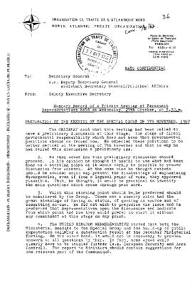 50th Anniversary of the Harmel Report - Special ...