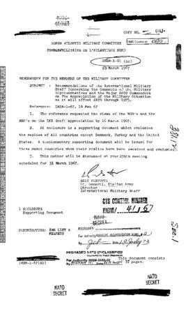 International Military Staff Memorandum - NATO Archives Online