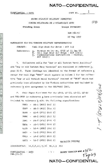 CALL SIGN BOOK FOR SHIPS - ACP 113 - NATO Archives Online