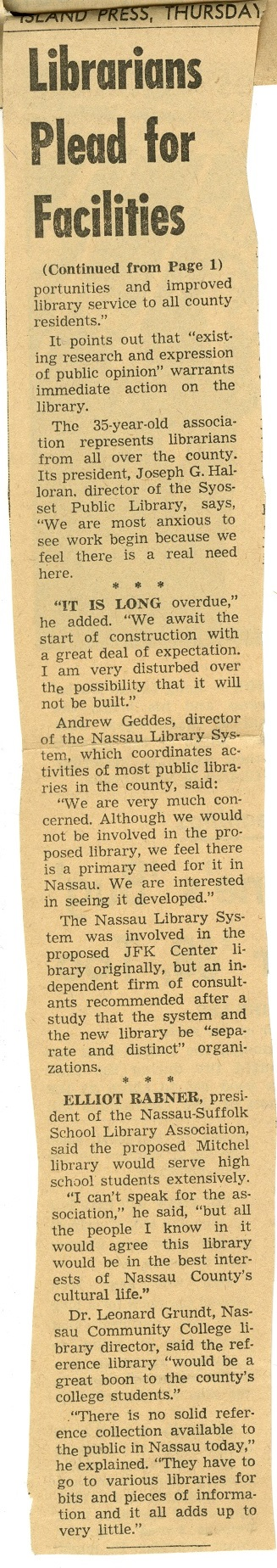 Librarians Plead for Facilities
