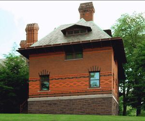 The exterior of The Mark Twain House built in 1873. Designed by architect Edward T. Potter for Samuel Clemens, a.k.a Mark Twain, and wife Olivia Langdon Clemens the structure gained National Historic Landmark status in 1963. Margaret Waage / Republican-American