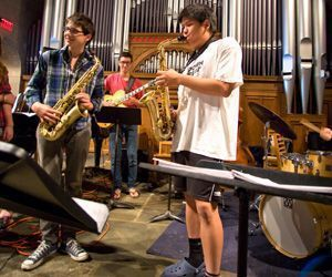 Litchfield Jazz Camp students will join faculty in a number of free concerts in the month leading up to this years festival. Credit: Antonio Monterio