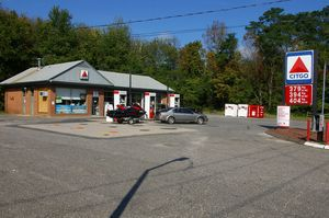 Drake Petroleum, which owns the Citgo gas station at 166 Burlington Road in Harwinton, will be responsible for the site's cleanup if voters approve its sale to the town for a new home for the ambulance association in a referendum Tuesday. Bud Wilkinson/RA