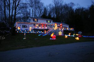 Barbara White was judged to have the Best Overall Display in the second annual Harwinton's Christmas House Decorating Contest. Bud Wilkinson Republican-American