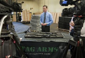 Mark Malkowski, owner of Stag Arms in New Britain, talks about his company's newly designed Stag-22. Jim Shannon Republican-American