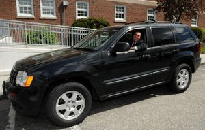 TORRINGTON, CT, 13 MAY 13- 051313AJ01- Mayor Ryan J. Bingham in his Jeep Cherokee outside Torrington City Hall. Alec Johnson/ Republican-American
