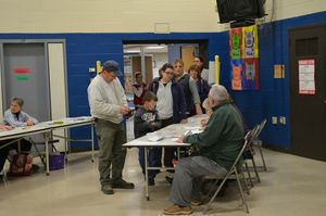 District 1 voters at Fisher Elementary School were consistent throughout the day. Alexa Gorman Republican-American