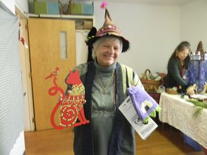 Nita Colgate serves as an elf telling those attending the United Church of Christ Congregational's Holiday Fair in Cornwall where to find various items. Ruth Epstein Republican-American