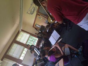 Camp students in ensemble rehearsal. Kellie Lambert / Republican-American