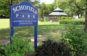 A view of Schofield Park at 283 Bunker Hill Ave in Waterbury. Steven Valenti Republican-American