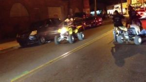 Waterbury, CT An ATV rider is seen on East Farm Street in Waterbury last summer, driving illegally along with a pack of recreational vehicles. The city has an ordinance in place imposed stiffer fines on riders who flout the law. Contributed.