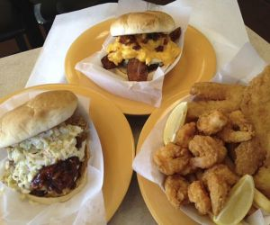 Burger Builders offers custom burgers, pulled pork, fresh-fried fish and more. Credit: Michele Morcey