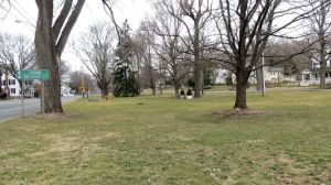 The Sharon Town Green Committee told the Board of Selectmen that a regrading of the Green is necessary to keep the town's jewel in good condition. Ruth Epstein Republican-American