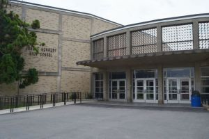 John F. Kennedy High School in Waterbury was evacuated Wednesday after a threat. Republican-American archives