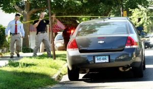 WATERBURY CT. 20 July 2016-072016SV01-Police are investigating a death on Marion Avenue in Waterbury Wednesday. Steven Valenti Republican-American