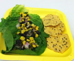Seymour sixth-grader Faith Rousseau's corn and bean salad with fresh cilantro. Credit: Cindy Brooks