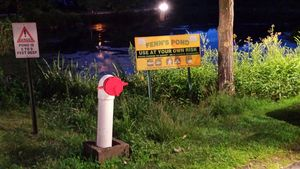 MIDDLEBURY, CT -- 06 Aug. 2014: 080614BB04 --- This dry hydrant is available for firefighters at Fenn's Pond. Bill Bittar Republican-American