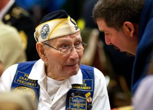 Pearl Harbor survivor William Lehr, 91, of Hamden attended a ceremony in 2011 at Cheshire High School. Lehr served on the destroyer USS Monaghan during the attacks and witnessed the sinking of the USS Arizona.  Republican-American archive