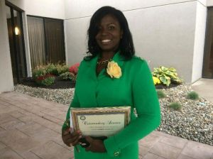 Kyla Brantley, First Lady at Zion AME Baptist Church, received an award for her service to the community at the NAACP Greater Waterbury Branch's 74th Freedom Fund Awards Luncheon on Saturday at the Courtyard Marriott in Waterbury.