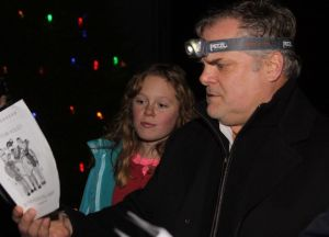 Mark Heilshorn and Frances Jansky, both of Milton, were among the carolers during the Milton Christmas tree lighting.