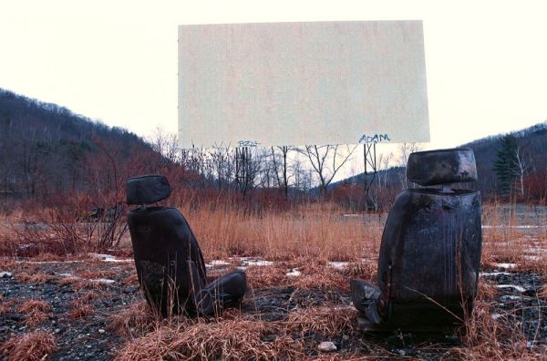 The former Watertown Drive-In on the old Route 8 after its days of showing movies and before a construction debris recycling facility was built there. Republican-American Archives