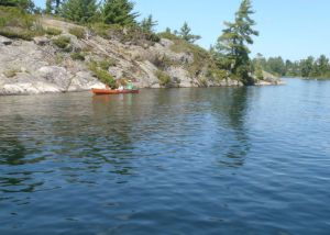 Canoe. A canoe or kayak is a wonderful way to explore among the 30,000 (yes, you read that right) islands along the eastern shores of Georgian Bay. (Tim Jones/EasternSlopes.com photo)