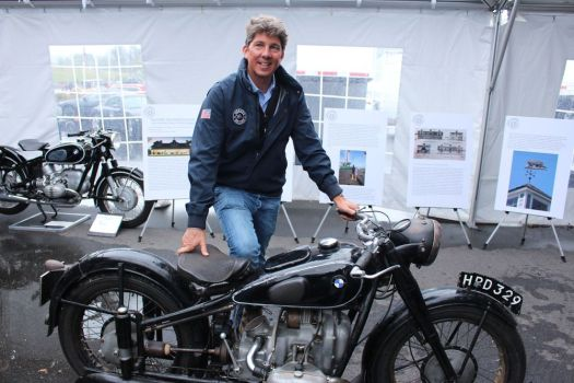 Philip Richter and his 1938 BMW R51 at Lime Rock Park during the 35th annual Historic Festival on Sunday. Bud Wilkinson Republican-American