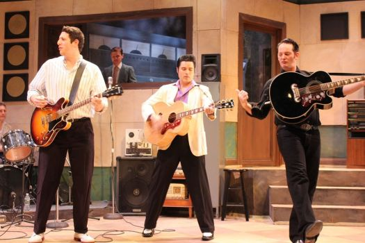 From left, Jeremy Sevelovitz, Cole and Sky Seals star in 'Million Dollar Quartet.' Paul Roth