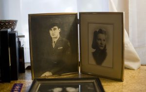 Photos of Marine veteran Theodore R. Marolda of Winsted and his wife, Margaret. Jim Shannon Republican-American