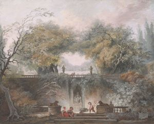 [18]  Jean-Honoré Fragonard (1732–1806), The Little Park, ca. 1765, paque watercolor over graphite, Thaw Collection, The Morgan Library & Museum, 1997.85. Photography by Steven H. Crossot, 2014.