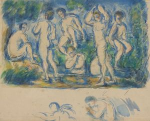 [15]  Paul Cézanne (1839 - 1906), The Bathers, ca. 1900, watercolor over graphite, Thaw Collection, The Morgan Library & Museum, 2017.29. Photography by Steven H. Crossot, 2014.