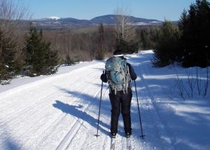 Camp to camp skiing in Maine is on the agenda this winter! This is the view on one of the groomed ski trails near the AMC's Little Lyford Pond Camps. (Tim Jones/EasternSlopes.com photo)