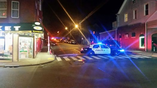 WATERBURY - Police investigated one of the dozens of shootings that have led to at least 60 people being shot in the city this year. West Farm Street in the city's North End was the scene of one such shooting this year that left a man with a wound to his face. In response, Chief Vernon Riddick Jr. and Mayor Neil M. O'Leary said the police department will form a gang task force to combat the violence. File photo.