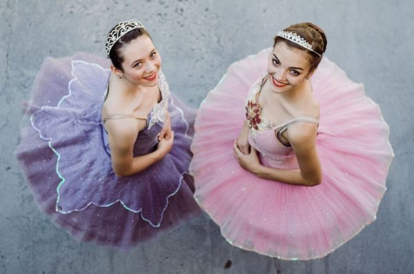Contributed Alexandra Koulouris, left, and Deanna Pietrorazio, both of Middlebury, share the role of the Sugar Plum Fairy as the Middlebury Dance Company performs 'The Nutcracker' this weekend at Naugatuck Valley Community College in Waterbury.