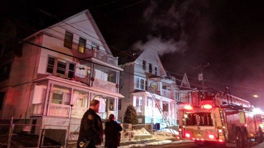 Firefighters extinguished a fire that had started on the third floor of a three-family home at 23 Waterville St. Thursday evening. Fire and smoke damage were limited to the third floor unit and attack, while the first and second floors sustained water damage, according to Fire Chief David Martin.