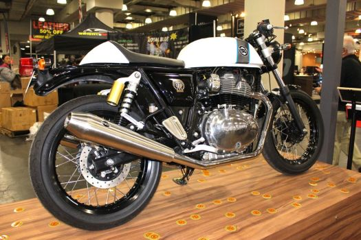 A 2018 Royal Enfield Continental GT on display at the Progressive International Motorcycle Show in New York earlier this month. Bud Wilkinson Republican-American