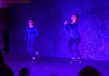 From left, Isabella Koster and Giuliana Mancini perform a tap dance routine Sunday in Westover School's Dance Program concert at the school's Middlebury campus.Bill Shettle Republican-American