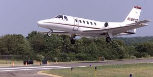 OXFORD -- A Cessna Citation takes off from the Waterbury- Oxford Airport on runway 36 in 2005. Assessor Teresa Geremski said the airport is a