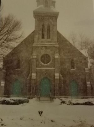 A record 20 inches of snow fell on March 13, 1993, when Stephen and Heather Fisher got married at Center Congregational Church in Torrington. Contributed