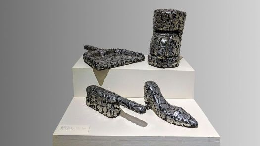 Claudia DeMonte's Female Fetish, 1996-2010, wood, pewter, paint. Contributed
