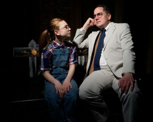 Bobbie Celine Doherty as Scout and Josiah P. Rowe as Atticus Finch shine in Landmark Community Theatre's production of