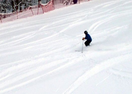 Even the groomed runs at Cranmore Mountain have been covered with powder following 3 march nor'easters. (Tim Jones/EasternSlopes.com photo)