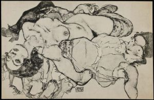 Contributed Egon Schiele's 'Two Women' is part of the Klimt and Schiele: Drawn exhibit at the Museum of Fine Arts, Boston, through May.