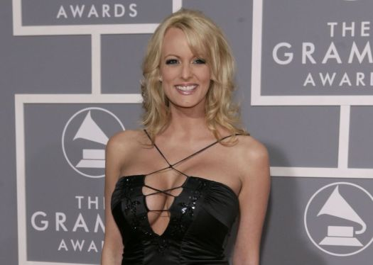 In this Feb. 11, 2007, file photo, adult film actress Stormy Daniels arrives for the 49th Annual Grammy Awards in Los Angeles. Associated Press