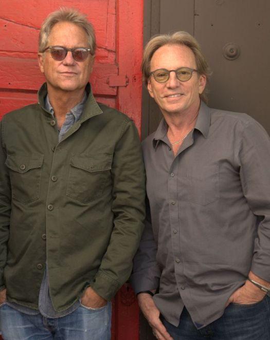 Gerry Beckley, left, and Dewey Bunnell appear this weekend as America performs Friday at the Warner Theatre in Torrington. Contributed