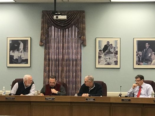 CHESHIRE -- The Town Council adopted a more than $110 million operating budget for fiscal year 2018-19 at a meeting on Monday night. The councilors adoption reflects a more than $800,000 reduction to Town Manager Michael A. Milone's $111.8 million proposal. Ajhani Ayres/Republican-American.