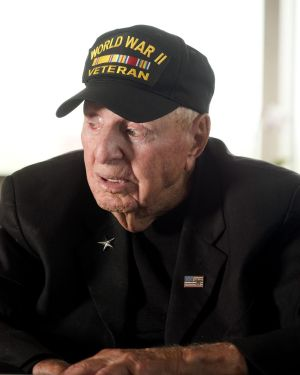World War II veteran Sidney Walton, 99, of San Diego, is on a quest to visit all 50 state capitals before his 100th birthday in February 2019. He is calling it the 'No Regrets Tour.' Walton and his son, Paul, will be visiting with Gov. Dannel P. Malloy today. Jim Shannon Republican-American