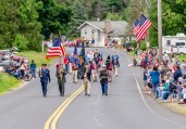 WOLCOTT, CT. 28 May 2018-052818BS352 - Hundreds line the street honoring those lost during the 2018 Wolcott Memorial Day Parade on Monday evening. Bill Shettle Republican-American