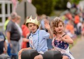 WOLCOTT, CT. 28 May 2018-052818BS352 - Little Miss and Mr. Wolcott wave to everyone along the route of the 2018 Wolcott Memorial Day Parade on Monday evening. Bill Shettle Republican-American